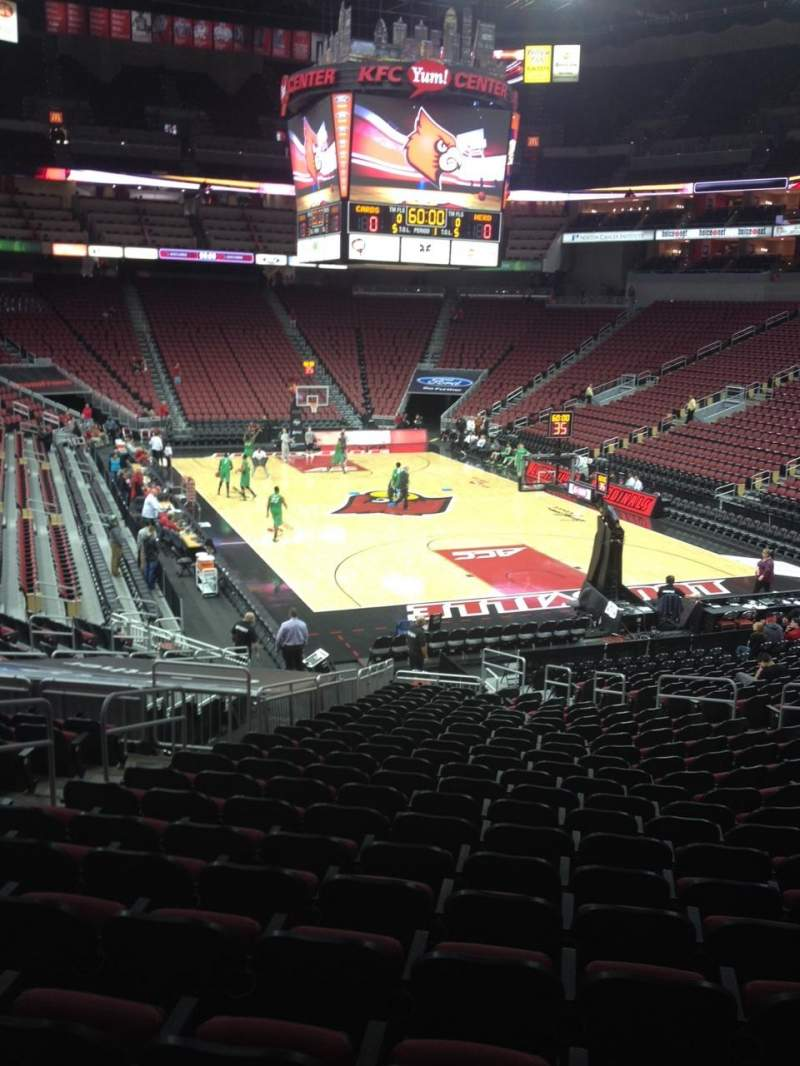 Seating view for KFC Yum! Center Section 112 Row Z Seat 18