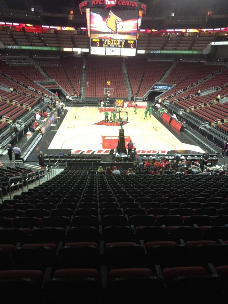 Seating view for KFC Yum! Center Section 111 Row DD Seat 16