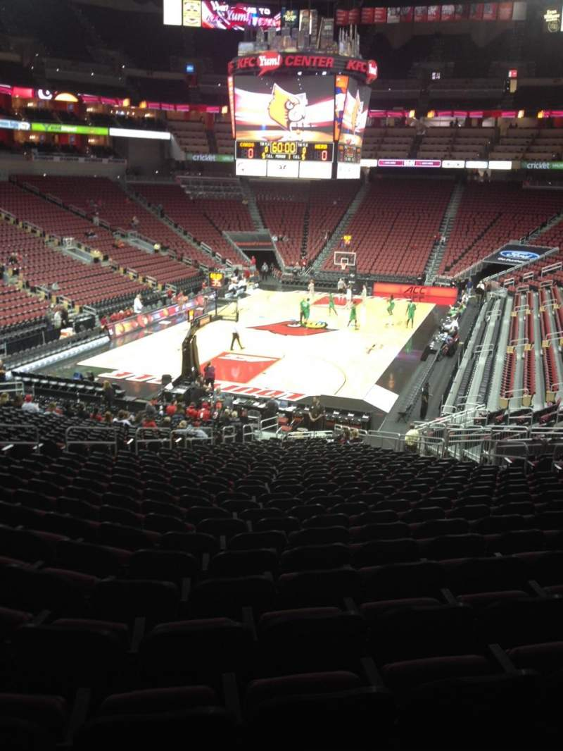 Seating view for KFC Yum! Center Section 110 Row FF Seat 14