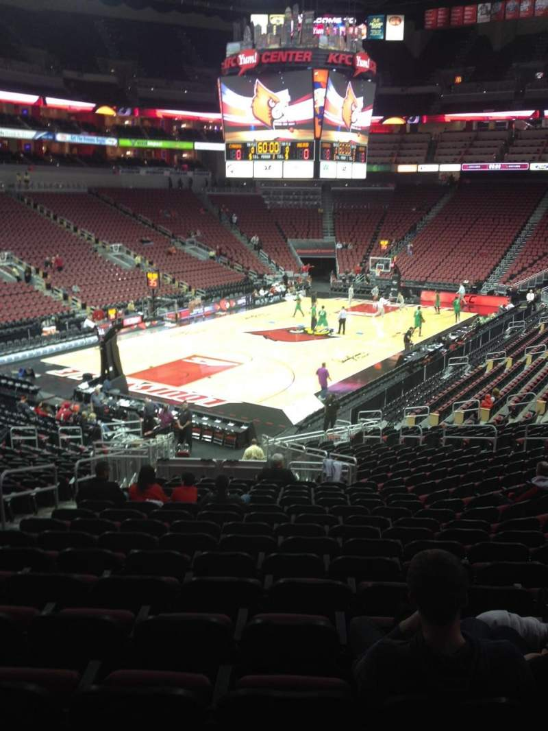 Seating view for KFC Yum! Center Section 109 Row DD Seat 24
