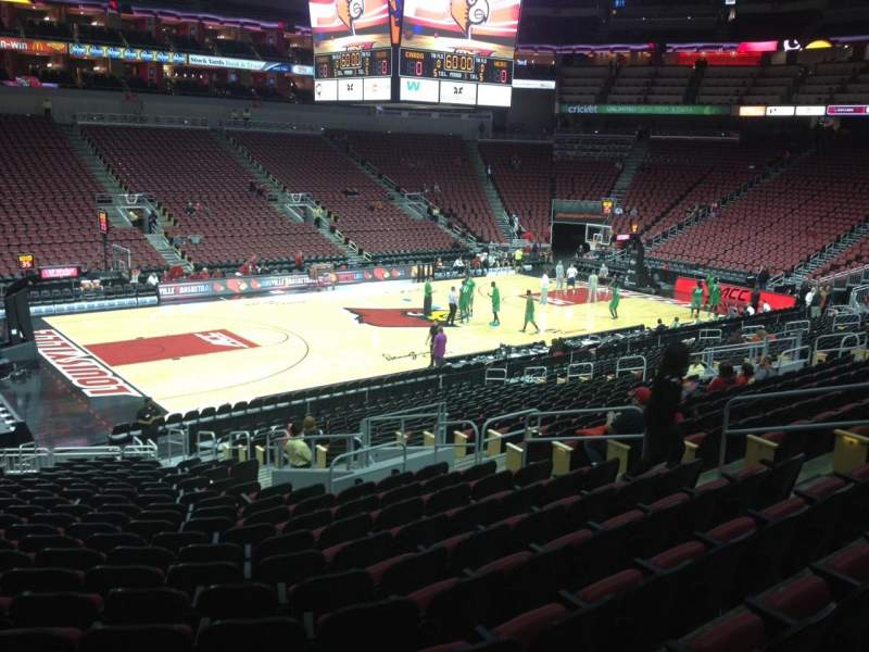 Seating view for KFC Yum! Center Section 108 Row Z Seat 13
