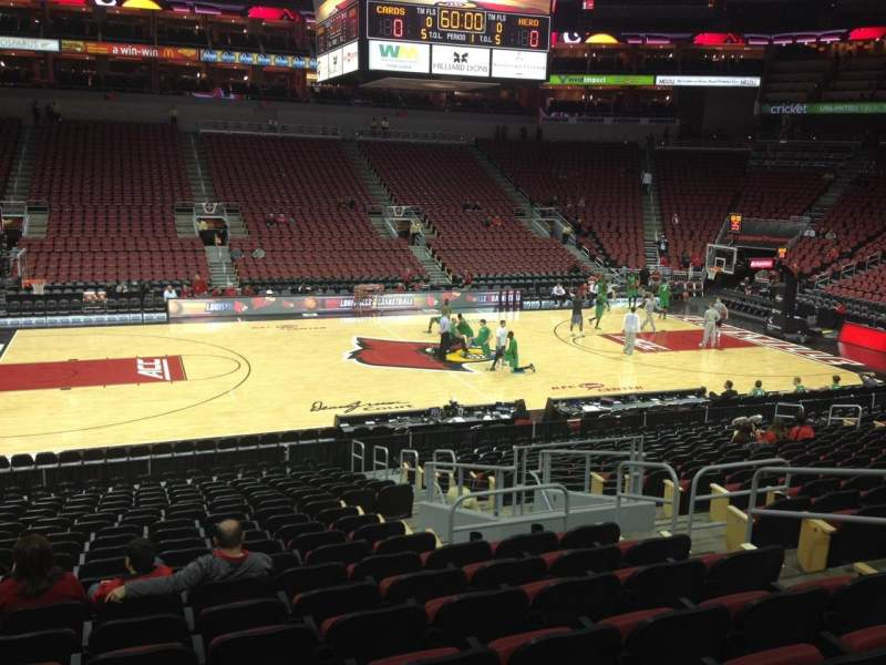 Seating view for KFC Yum! Center Section 107 Row W Seat 7
