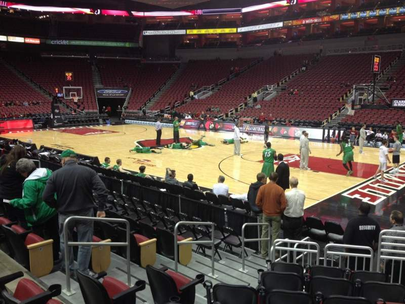 Seating view for KFC Yum! Center Section 104 Row L Seat 3
