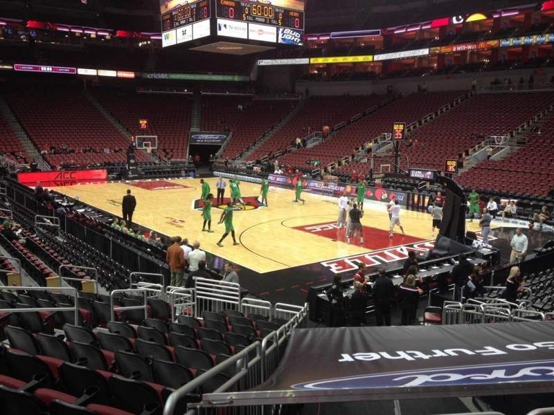 Seating view for KFC Yum! Center Section 103 Row R Seat 7