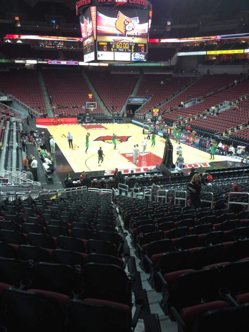 Seating view for KFC Yum! Center Section 102 Row Z Seat 11