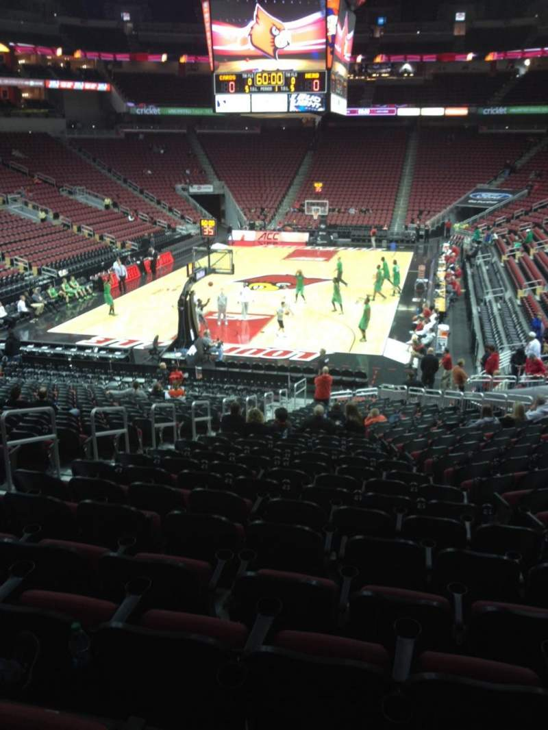 Seating view for KFC Yum! Center Section 120 Row BB Seat 18
