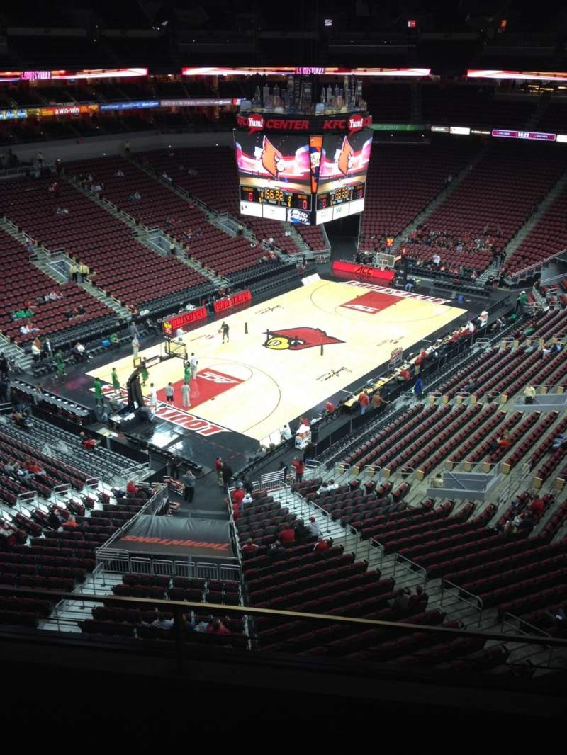 Seating view for KFC Yum! Center Section 327 Row C Seat 10