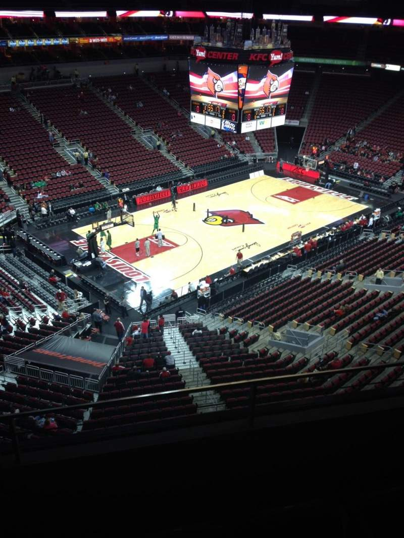Seating view for KFC Yum! Center Section 326 Row C Seat 20