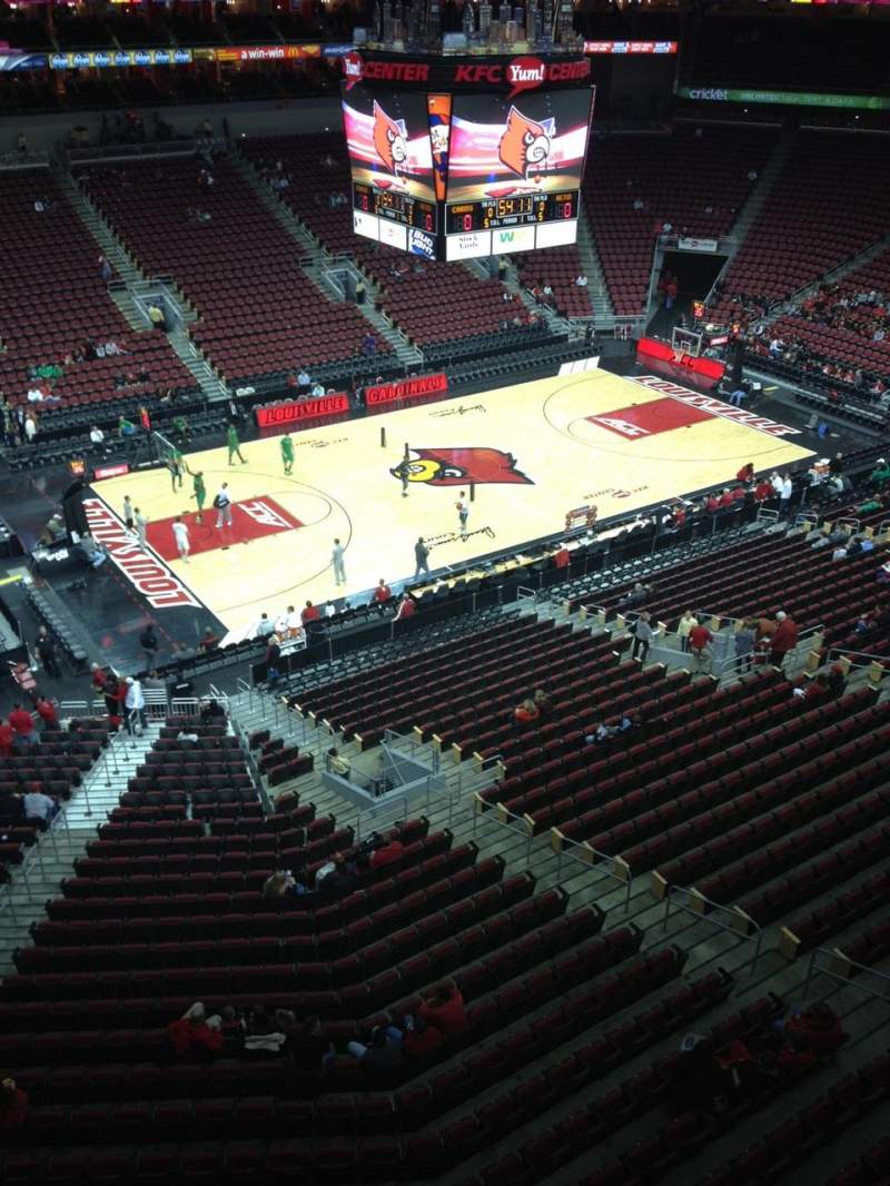 Seating view for KFC Yum! Center Section 325 Row A Seat 12