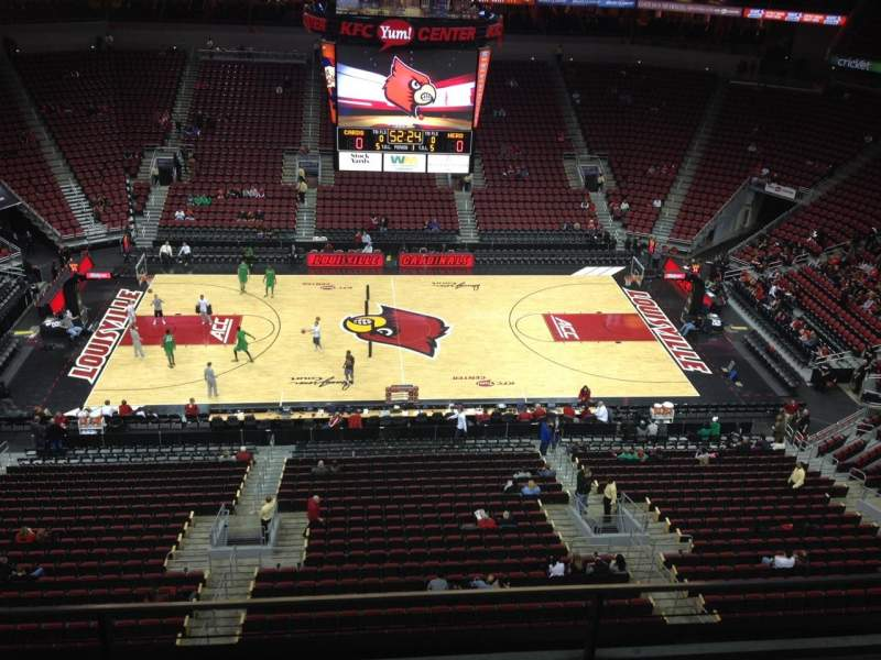 Seating view for KFC Yum! Center Section 323 Row C Seat 17