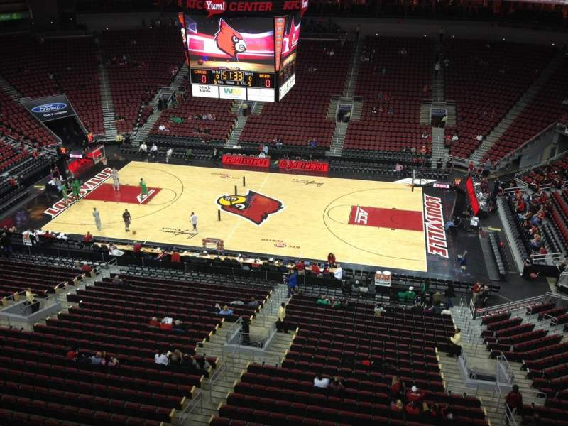 Seating view for KFC Yum! Center Section 322 Row A Seat 16