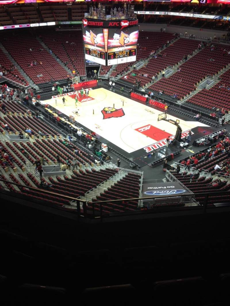 Seating view for KFC Yum! Center Section 319 Row D Seat 6