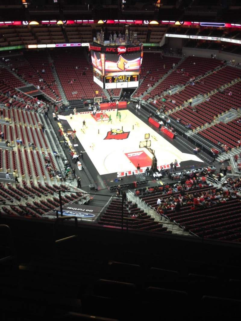 Seating view for KFC Yum! Center Section 317 Row F Seat 2