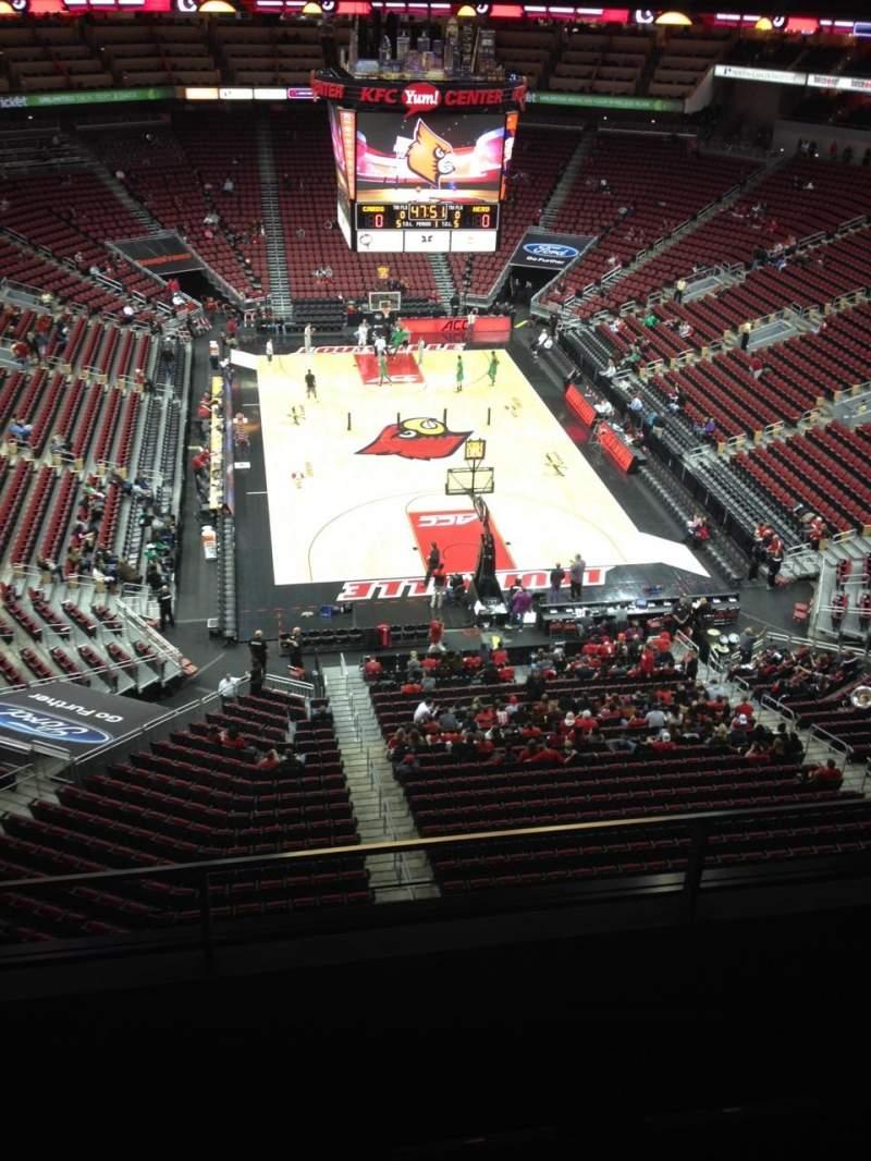 KFC Yum! Center, section 316, row C, seat 15 - Louisville ...