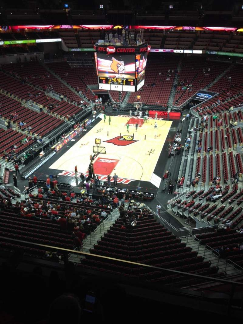 Seating view for KFC Yum! Center Section 314 Row C Seat 9