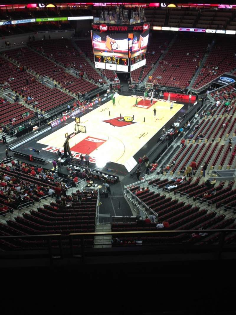 Seating view for KFC Yum! Center Section 313 Row C Seat 10