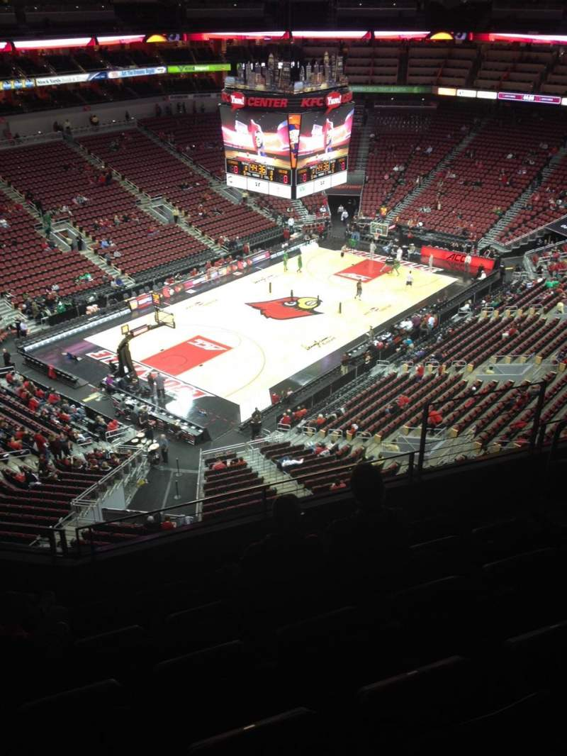 Seating view for KFC Yum! Center Section 312 Row F Seat 5