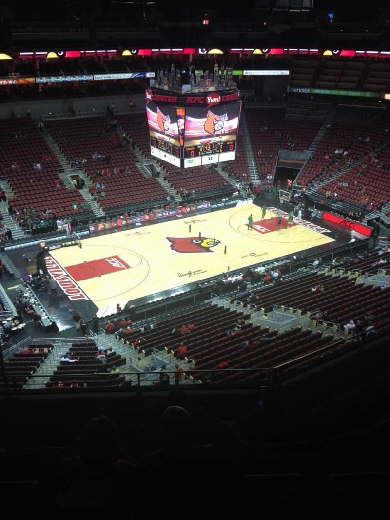 Seating view for KFC Yum! Center Section 310 Row F Seat 12