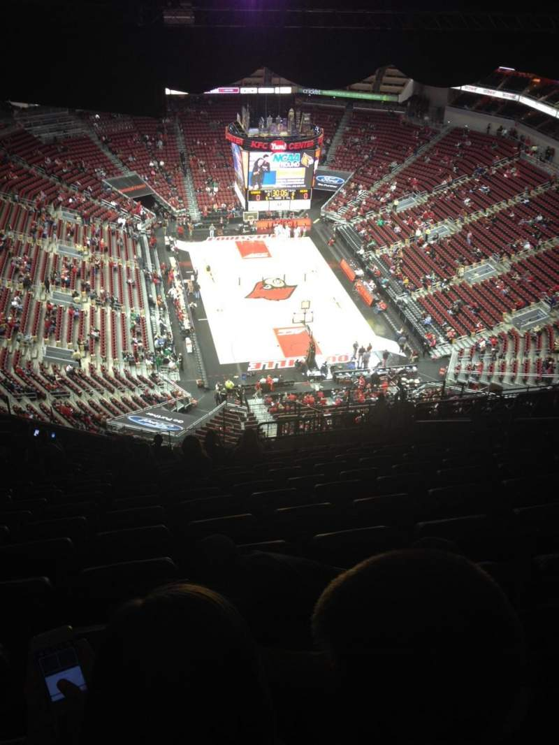 Seating view for KFC Yum! Center Section 317 Row W Seat 10