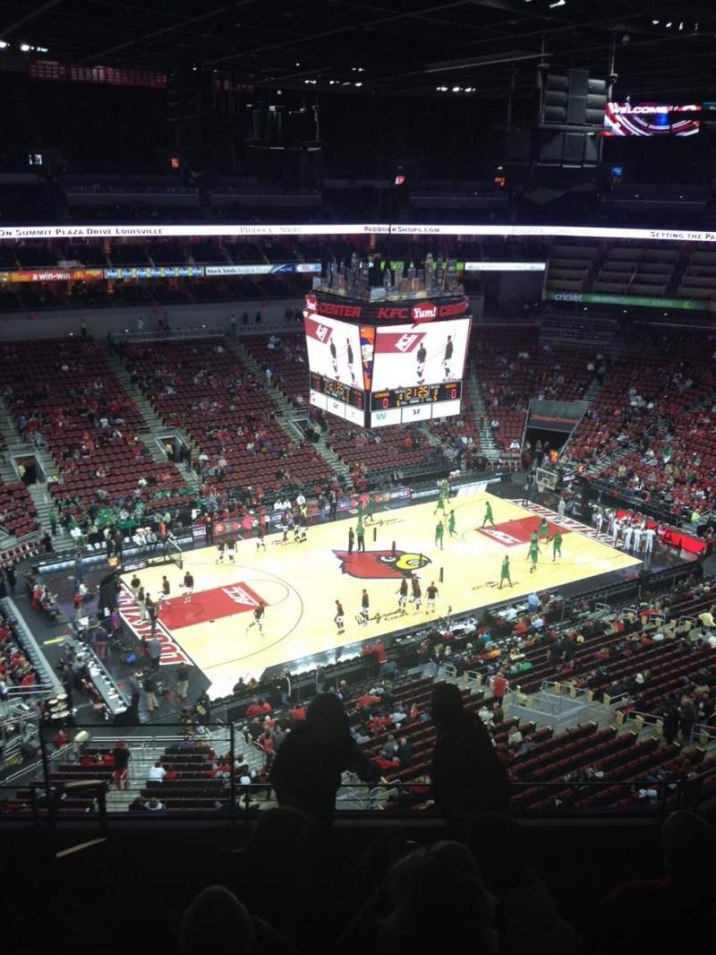 Seating view for KFC Yum! Center Section 310 Row F Seat 14