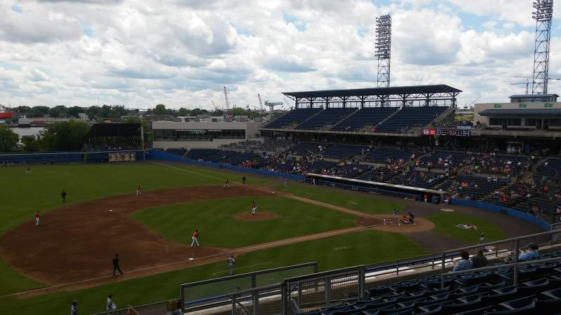 Seating view for Harbor Park Section 311 Row O Seat 11