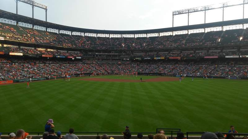 Seating view for Oriole Park at Camden Yards Section 94 Row 14 Seat 5