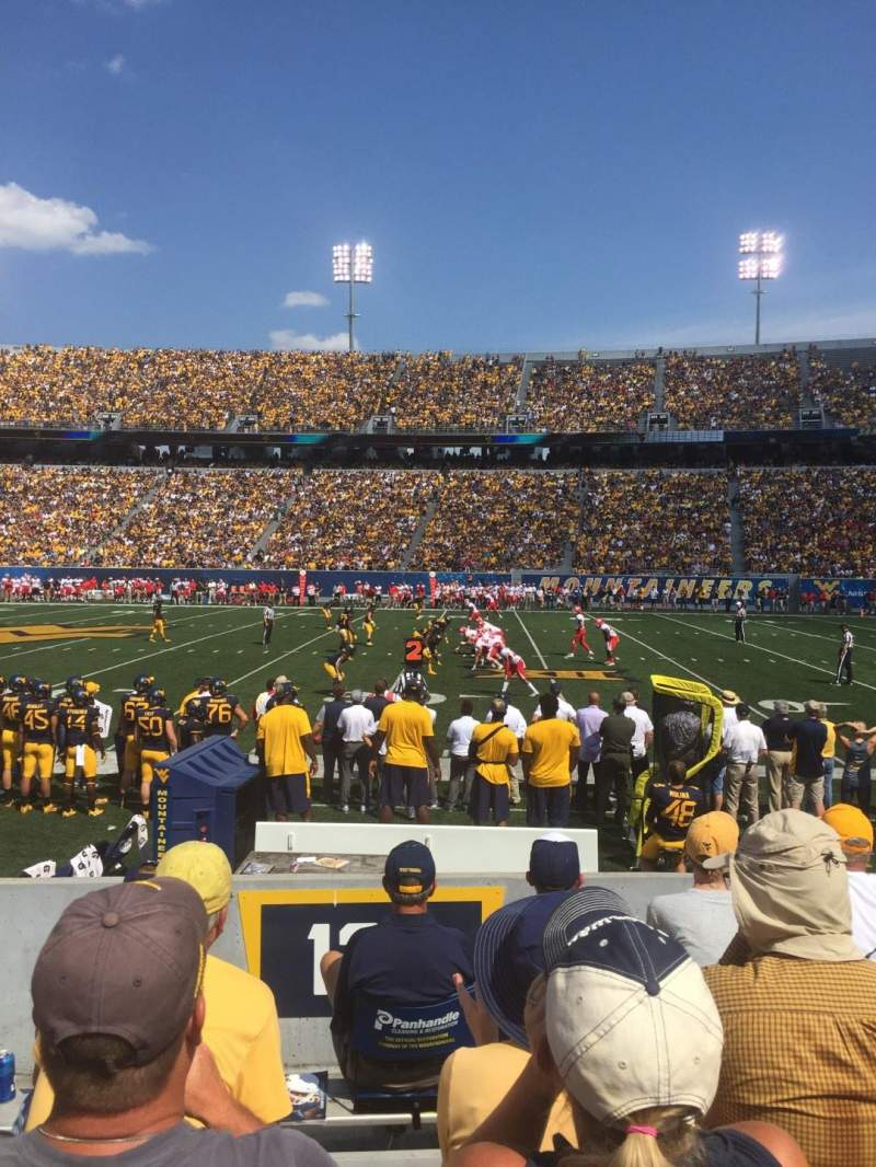 Seating view for Mountaineer Field Section 127 Row 5 Seat 11