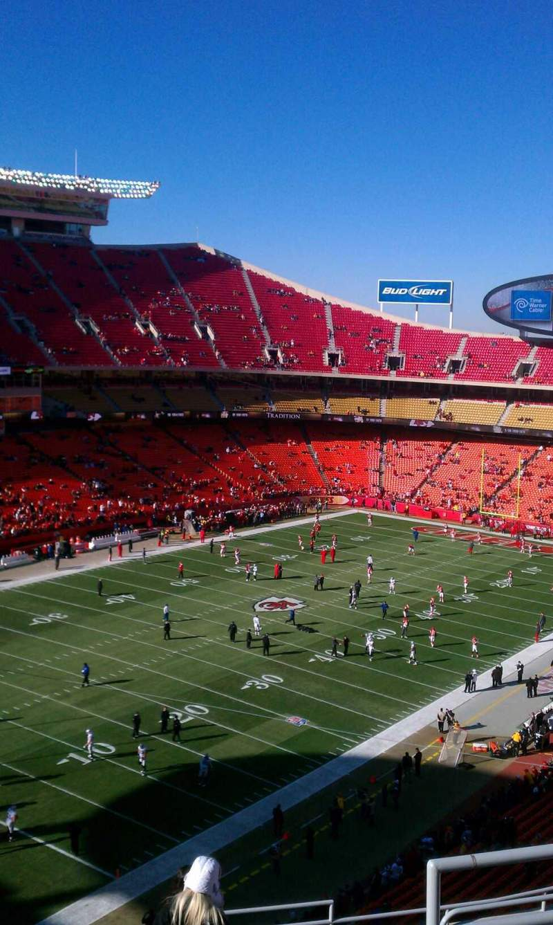 Seating view for Arrowhead Stadium Section 308 Row 12 Seat 5