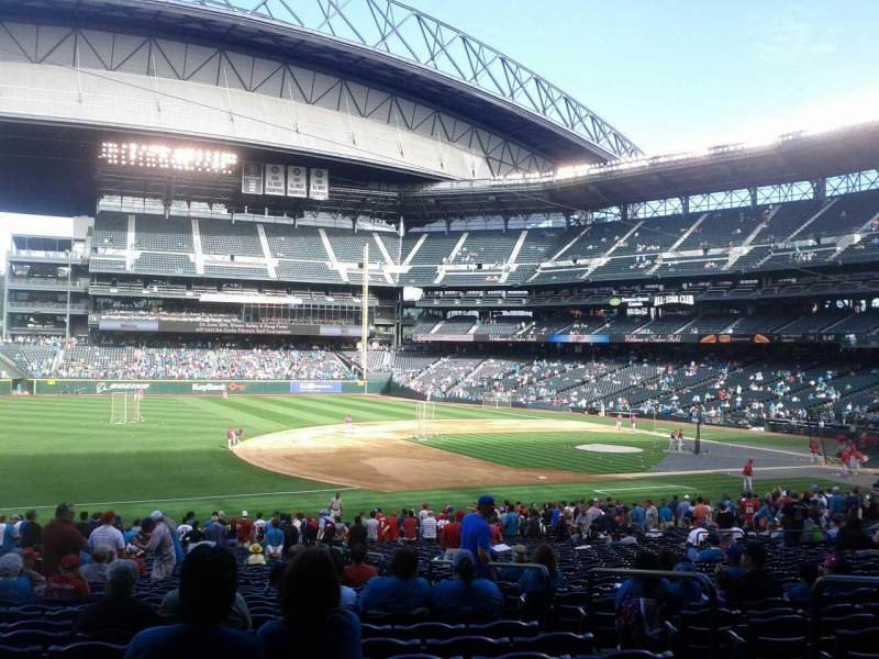 Seating view for T-Mobile Park Section 142 Row 36 Seat 5