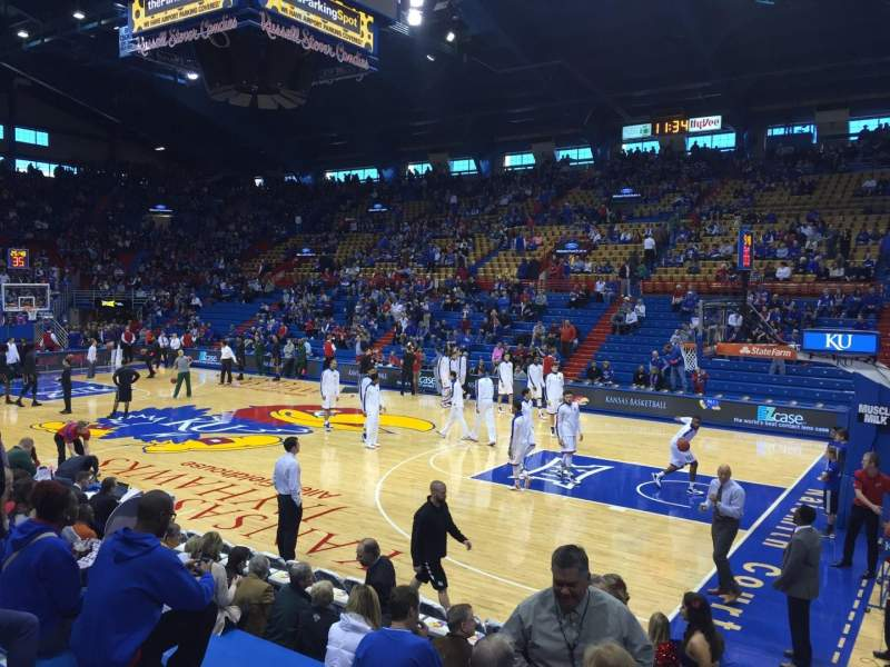 Seating view for Allen Fieldhouse Section Q Row 10 Seat 8