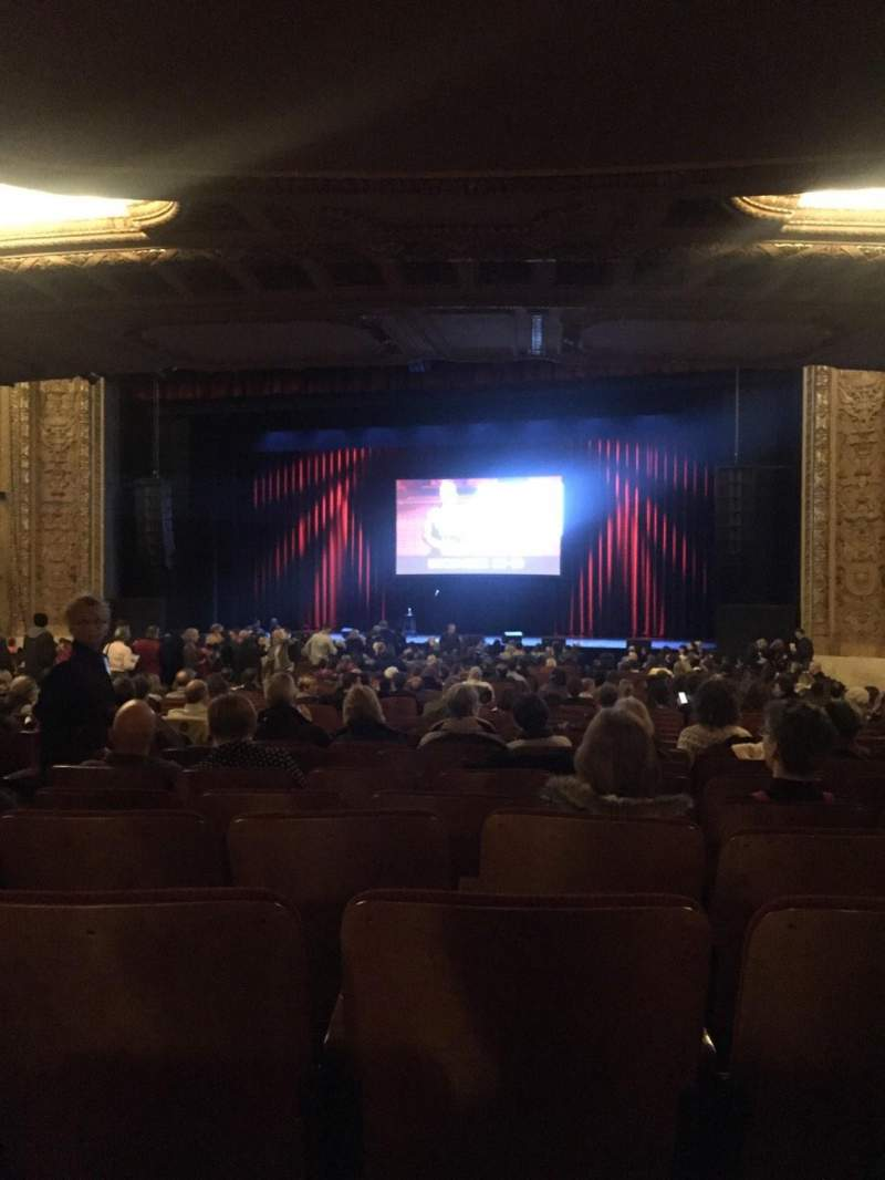 Seating view for Chicago Theatre Section MNFL3R Row R Seat 308