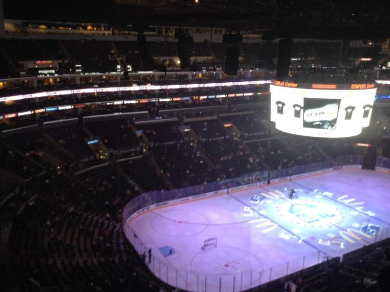 Seating view for Staples Center Section 305 Row 9 Seat 6