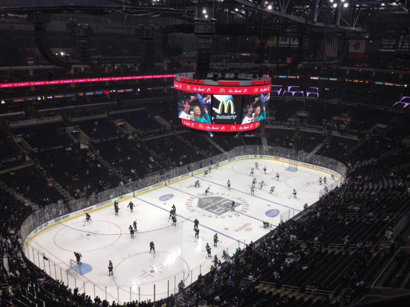 Seating view for Staples Center Section 305 Row 9 Seat 16
