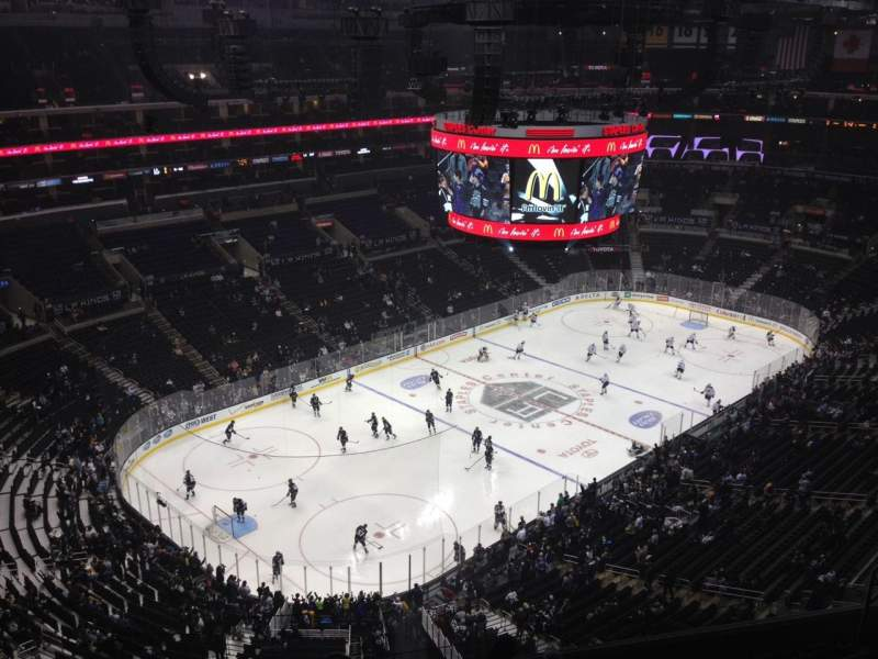 Seating view for Staples Center Section 305 Row 9 Seat 13