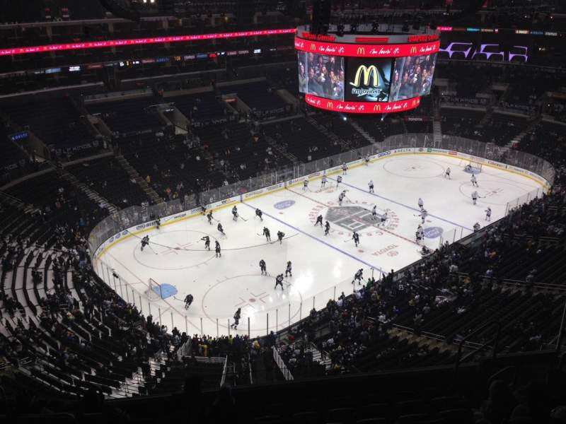 Seating view for Staples Center Section 305 Row 9 Seat 9