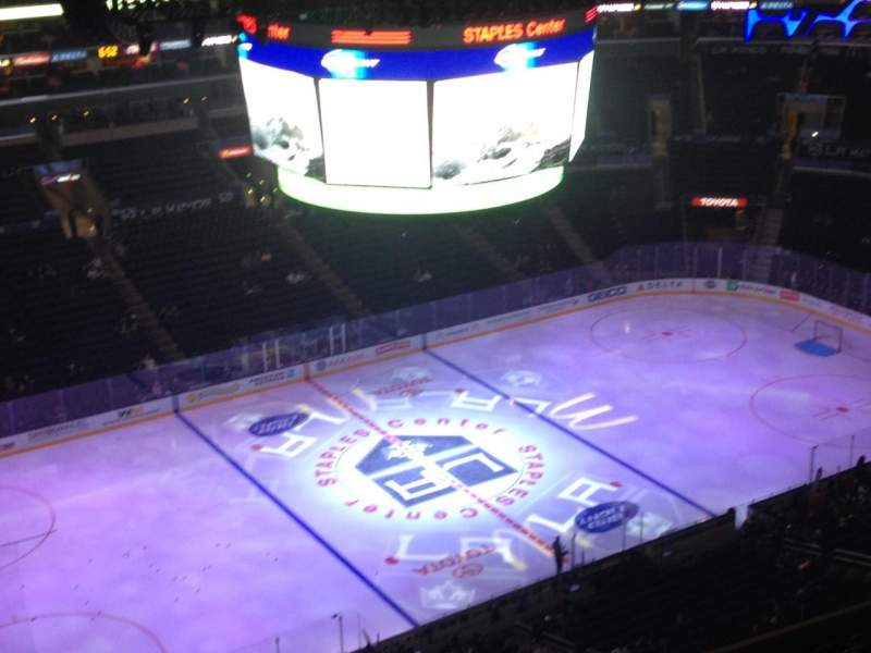 Seating view for Staples Center Section 304 Row 13 Seat 1