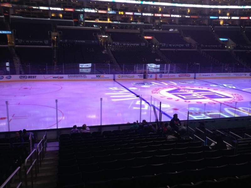 Seating view for Staples Center Section 102 Row 17 Seat 1
