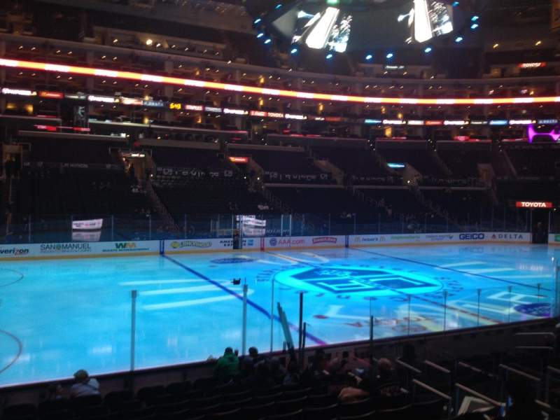 Seating view for Staples Center Section 102 Row 14 Seat 1