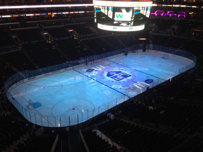 Seating view for Staples Center Section 305 Row 2 Seat 1