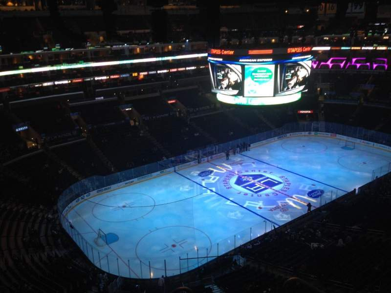 Seating view for Staples Center Section 305 Row 6 Seat 1