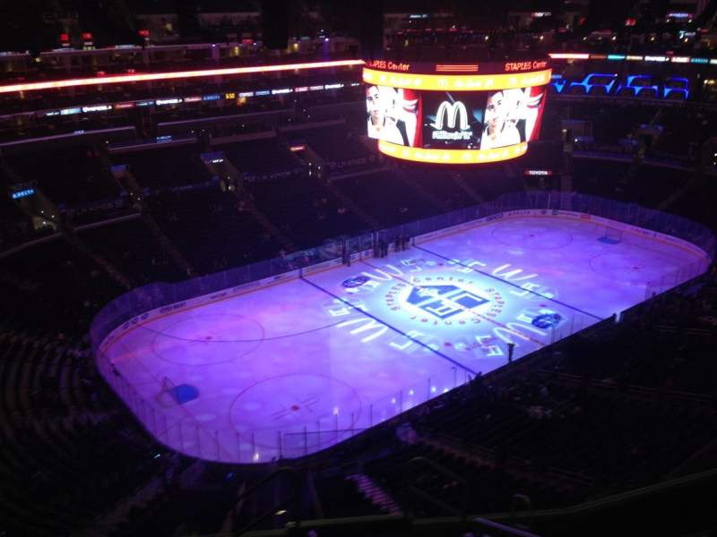 Seating view for Staples Center Section 305 Row 8 Seat 1