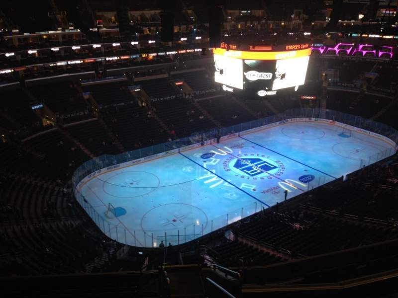 Seating view for Staples Center Section 305 Row 12 Seat 1