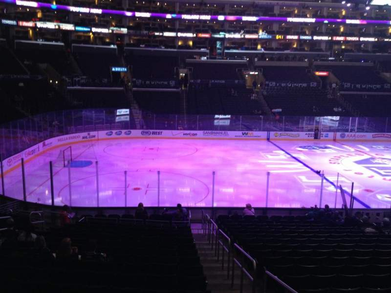 Seating view for Staples Center Section 103 Row 20 Seat 1