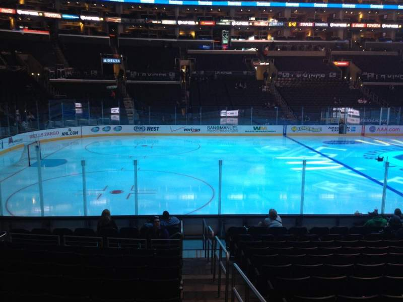 Seating view for Staples Center Section 103 Row 14 Seat 1