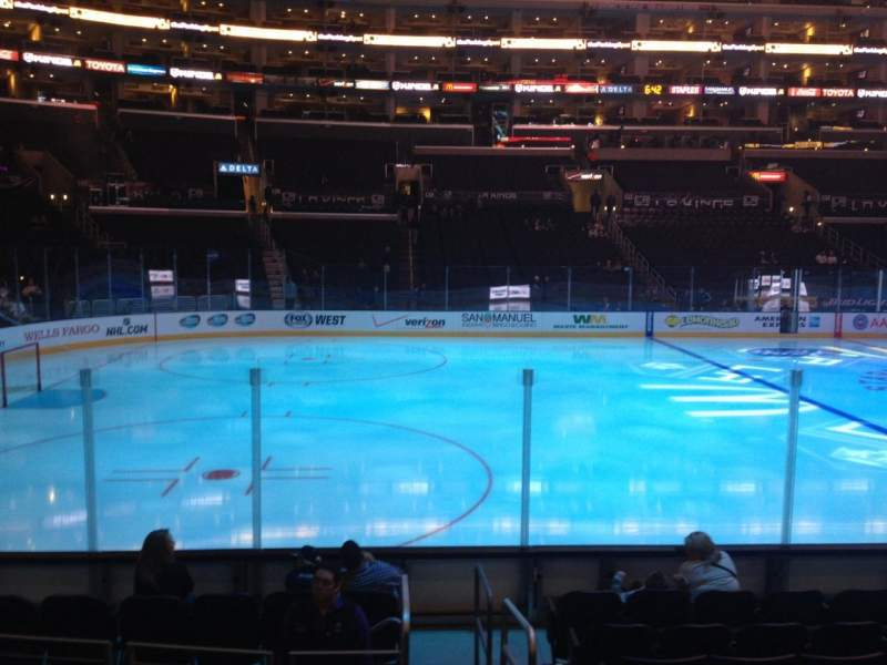 Seating view for Staples Center Section 103 Row 10 Seat 1