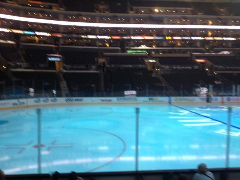 Seating view for Staples Center Section 103 Row 7 Seat 1