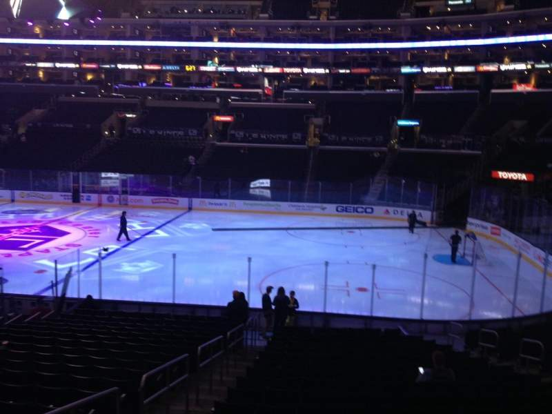 Seating view for Staples Center Section 118 Row 20 Seat 15