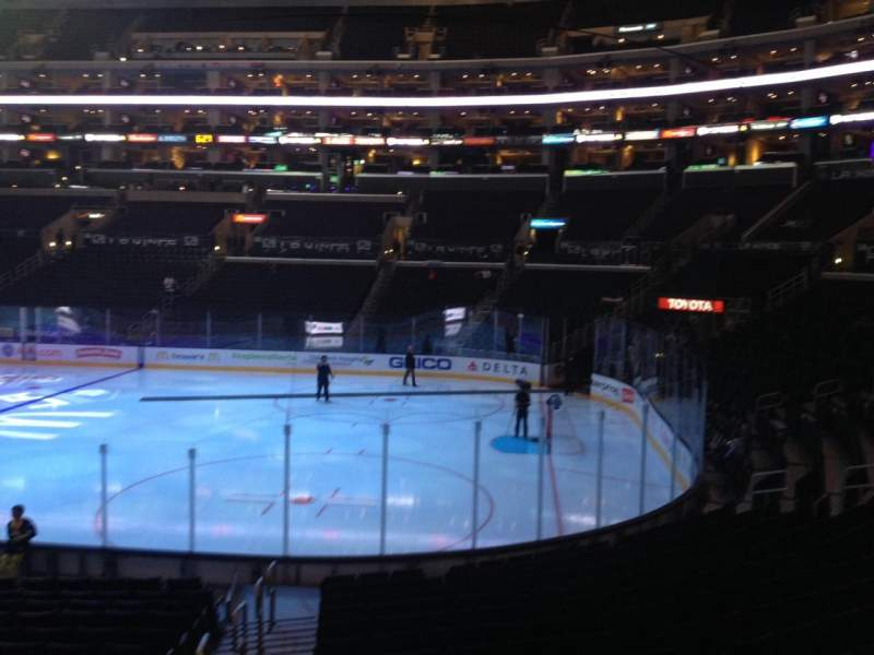 Seating view for Staples Center Section 117 Row 17 Seat 32