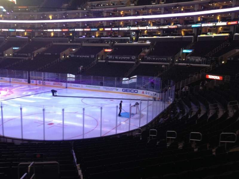 Seating view for Staples Center Section 117 Row 20 Seat 15