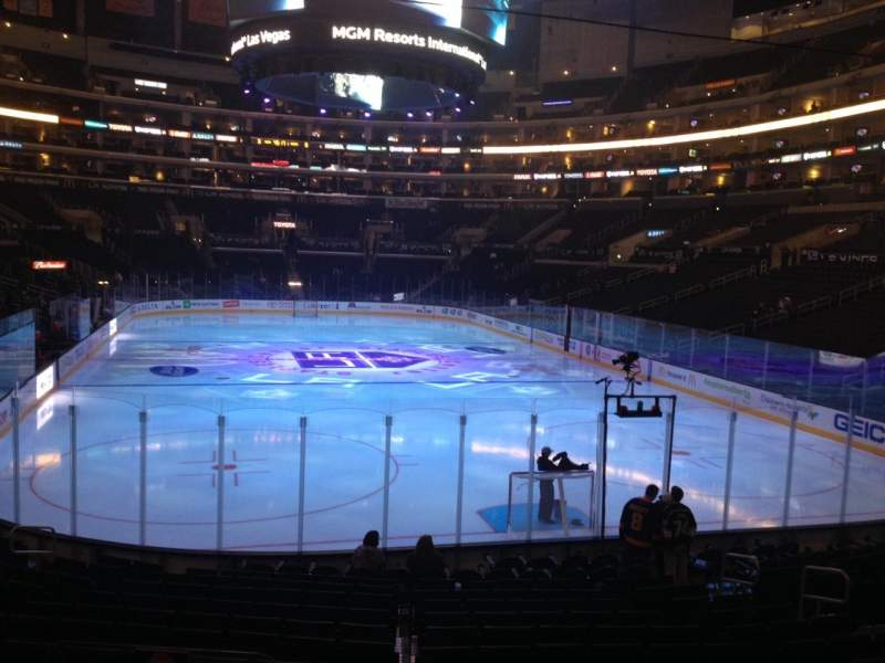 Seating view for Staples Center Section 116 Row 17 Seat 33